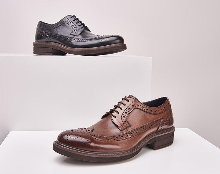 High quality hand made genuine leather shoes lace up men dress shoes black dress shoes men italianwholesale comfortable stylish new design high quality top fashion italian men casual shoesU.S.A hot sell Genuine leather dress shoes for men oxford shoes