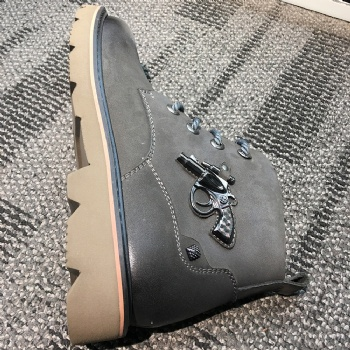 fashion Winter camouflage green suede leather fashion Leisure work boot