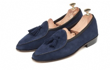 High Mercerized Suede Tassel loafers